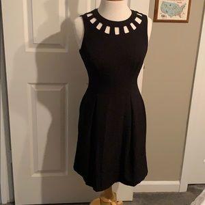 Eliza J Sleeveless Black Cutout Dress